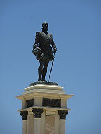 2018 Santa Marta (Colombia) - Estatua de Rodrigo de Bastidas.jpg