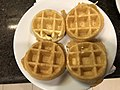 2019-07-20 08 03 36 A plate of mini waffles at the Marriott Residence Inn on Katy Mills Parkway in Katy, Fort Bend County, Texas.jpg