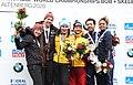 2020-03-01 Medal Ceremony Skeleton Mixed Team competition (Bobsleigh & Skeleton World Championships Altenberg 2020) by Sandro Halank–037.jpg