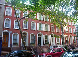 Houses at 208–218 East 78th Street Six Civil War-era brick rowhouses in Manhattan, New York