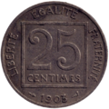 25 centimes Patey (1er type 1903) revers.png