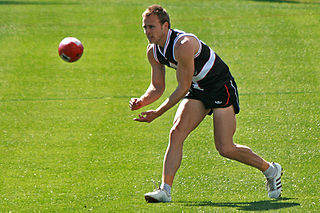 Handball (Australian rules football) term in the sport of Australian rules football