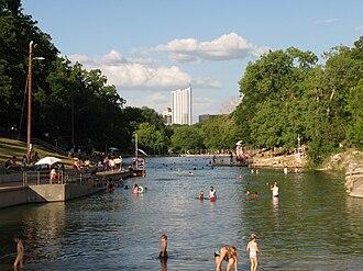 Barton Springs Pool - Barton Springs Pool in Austin, Texas.