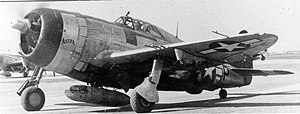 "Lignerolles Airfield - A two-seat P-47 Thunderbolt nicknamed ""Astra"" of the 365th Fighter Group."