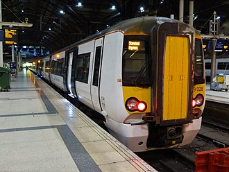 Greater Anglia (train operating company) - Image: 379028 Stanstead Express 1B40 (32298229532)