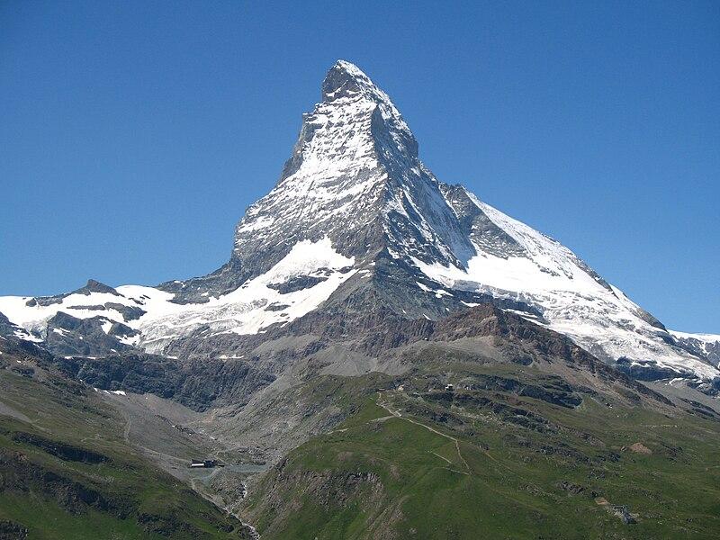 800px 3818 Riffelberg Matterhorn viewed from Gornergratbahn