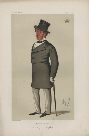 Orlando Bridgeman, 3rd Earl of Bradford - The Earl of Bradford caricatured in Vanity Fair by Carlo Pellegrini, 1874.