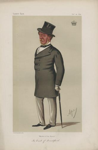 Orlando Bridgeman, 3rd Earl of Bradford - The Earl of Bradford caricatured in Vanity Fair by Carlo Pellegrini, 1874.