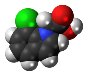 4-Chloroindole-3-acetic acid - Image: 4 Chloroindole 3 acetic acid 3D spacefill