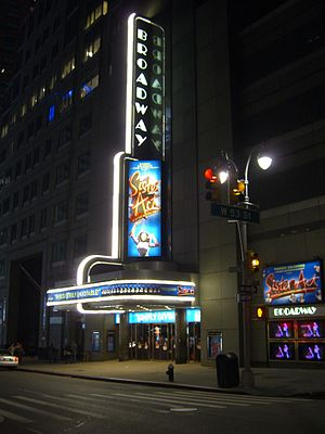 Broadway Theatre (53rd Street) - The Broadway Theatre during the run of Sister Act, ca. 2011.