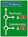 410-58 Smerová predzvesť (križovanie s diaľnicou, kruhové objazdy s rovnakým smerom odbočenia).jpg