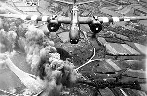 416th Air Expeditionary Wing - A-20 from the 416th Bomb Group making a bomb run on D-Day, 6 June 1944