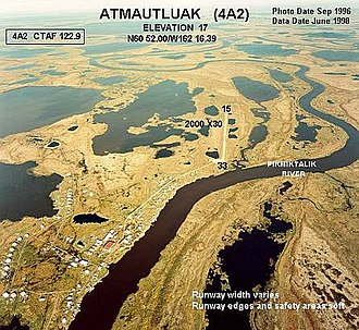Atmautluak, Alaska - Aerial photograph of Atmautluak