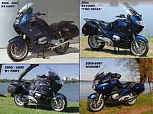 Four generations of BMW RT motorcycles