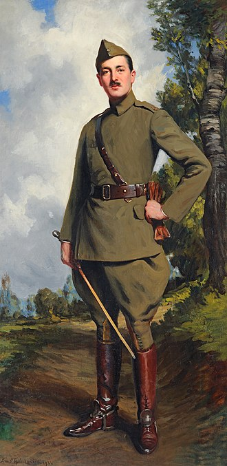 Baron Garvagh - A 1922 portrait of the 4th Baron, Leopold Canning, by John St Helier Lander