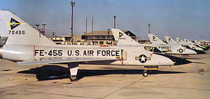 539th Fighter-Interceptor Squadron - F-106A about 1960, with marking of a triangle pierced by a chevron