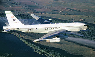 55th Operations Group - Boeing RC-135U Combat Sent 64-14849 intelligence aircraft located at Offutt Air Force Base, Neb., provides strategic electronic reconnaissance information to the President, Secretary of Defense, Department of Defense leaders and theater commanders.