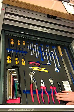 5S (methodology) - Tools drawer at a 5S working place.