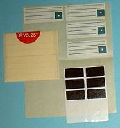 5 25-8-Diskettenetiketten