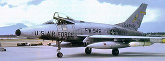 615th Tactical Fighter Squadron - 615th TFS North American F-100D-45-NH Super Sabre 55-2946, July 1965