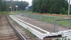 62 km BMO railway platform (view from east).JPG
