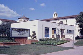 Fullerton College - Front of the Fullerton Junior College campus, April, 1963