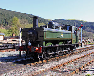 GWR 6400 Class - Image: 6430 at Carrog Station