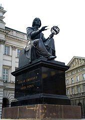 Nikolaus-Kopernikus-Denkmal in Warschau (Quelle: Wikimedia)
