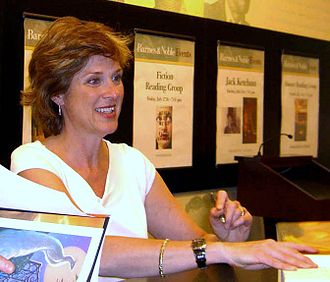 Mary GrandPré - GrandPré signing Harry Potter and the Deathly Hallows at a Barnes & Noble in Lincoln Square in Manhattan on July 21, 2007, the day of the book's release.