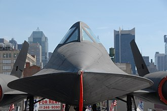 Chine (aeronautics) - The front view of the A-12 showing forebody shaped into chines