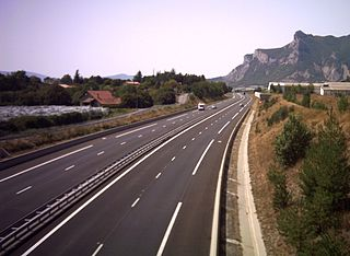 A51 autoroute road in France