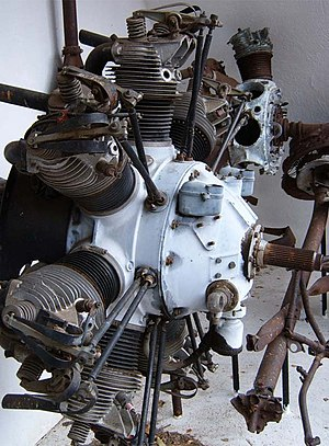Armstrong Siddeley Lynx - Armstrong Siddeley Lynx 7-cylinder radial from the Avro 618 Ten aircraft, Southern Cloud