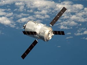 Orion Service Module - Edoardo Amaldi ATV approaching the International Space Station in 2012