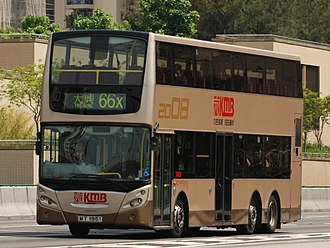 Volvo B9TL - A Volvo B9TL with Enviro500 bodywork serving with Kowloon Motor Bus in Hong Kong.
