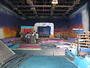 AVM Productions - Creating a set in AVM Studio, Chennai