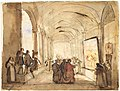 A Cardinal Examining a Painting in a Cloister MET DT6346.jpg