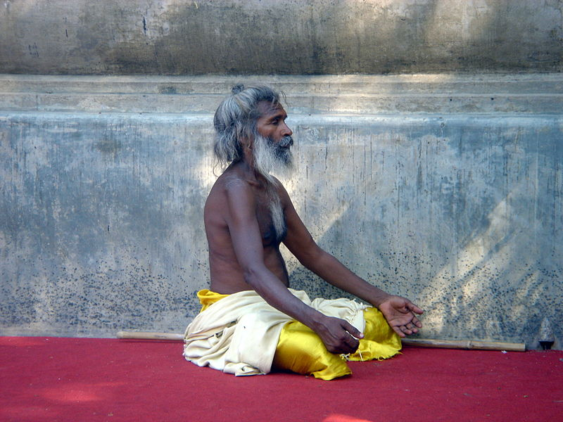 Bestand:A Holy Man in Meditation.JPG