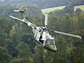 A Lynx Mk 7 of the Army Air Corps (AAC) is shown flying over Bramley Training area near Basingstoke. MOD 45148297.jpg