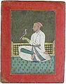A Pahari raja seated on a terrace holding a hawk (6125128900).jpg