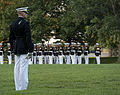 A U.S. Marine assigned to Marine Barracks Washington performs during a Sunset Parade at the Marine Corps War Memorial in Arlington, Va., July 16, 2013 130716-M-GK605-309.jpg
