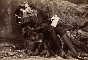 Oscar Wilde, photographic print on card mount:...