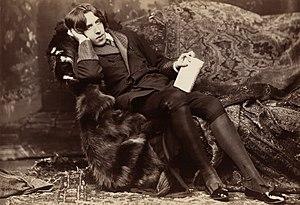 Oscar Wilde, famed Irish playwright, poet, and anarchist. c. 1882