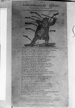"""Ioan Tegid - A ballad pamphlet by Tegid: """"Anffaeledigrwydd y Pab!"""" (""""Papal Infallibility"""")"""