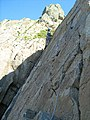 A climber on Threequarter Wall Buttress - geograph.org.uk - 618477.jpg