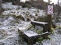 A frosty stile, Cranny - geograph.org.uk - 1150249.jpg