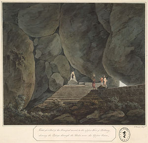 A passage through the rocks leading to the upper fort of Bellary..jpg