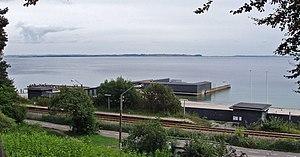 Bay of Aarhus - Bay of Aarhus viewed from Riis Skov with the sea bath of Den Permanente