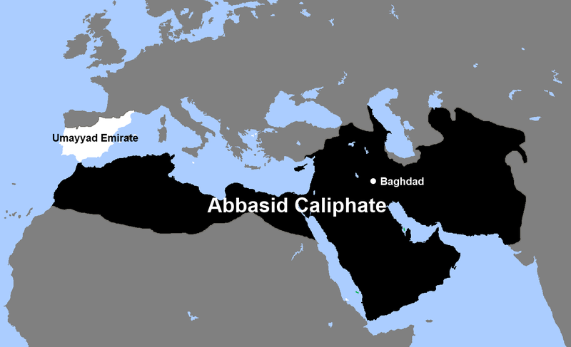 Datoteka:Abbasid Caliphate and Umayyad Emirate.png