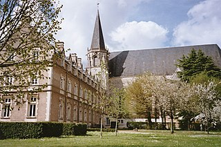 Benedictine monastery in Ligugé, France