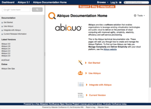 Abiquo's documentation wiki